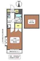 パレノーブル新宿第一[1階]の間取り