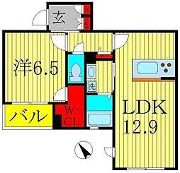 ケーズクレスト柏[3階]の間取り