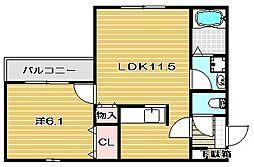 スペースK弐番館[2階]の間取り