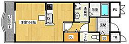 京都府京都市西京区桂上野中町の賃貸マンションの間取り