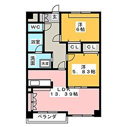 第8田中ビル[3階]の間取り