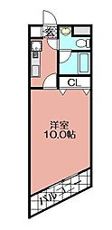 レステル美野島[802号室]の間取り