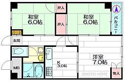 松尾マンション[4階]の間取り