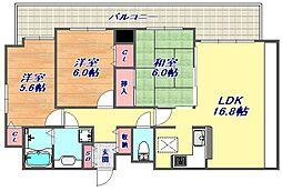 本山西ガーデンハウス[603号室]の間取り