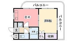 キャッスル甲子園[303号室]の間取り