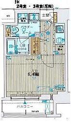 ジアコスモ大阪城南[202号室]の間取り