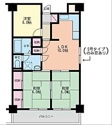 福岡県北九州市小倉北区香春口2丁目の賃貸マンションの間取り