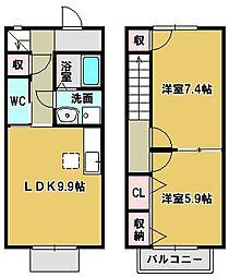 [タウンハウス] 三重県鈴鹿市桜島町1丁目 の賃貸【/】の間取り
