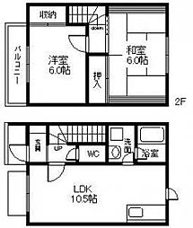 [テラスハウス] 兵庫県高砂市曽根町 の賃貸【兵庫県 / 高砂市】の間取り