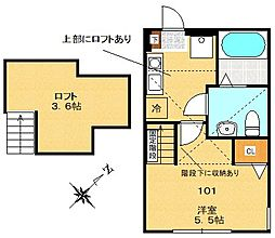 Steer Odasaga[101号室]の間取り