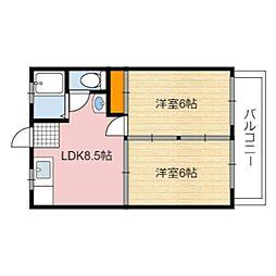 静岡県静岡市駿河区南安倍3丁目の賃貸マンションの間取り
