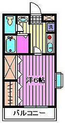 埼玉県さいたま市大宮区上小町の賃貸アパートの間取り