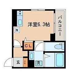 東京都品川区戸越1丁目の賃貸マンションの間取り