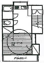 コスモコーポ[202号室]の間取り