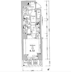 ジーベック滝野川[4階]の間取り