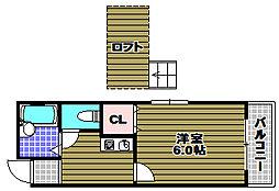ソファレ錦町[2階]の間取り