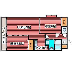 ノースパレス福住弐番館[3階]の間取り