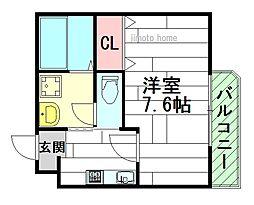 ボーディングハウス3[3階]の間取り