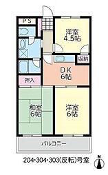 レジデンス茅ヶ崎[3階]の間取り