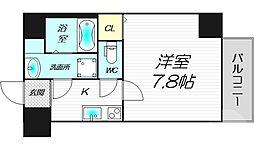 TOYOTOMI STAY Premium梅田III 9階1Kの間取り