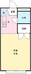 アメニティ高幡[1階]の間取り