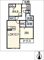 仮)シャーメゾン浜田町[1階]の間取り