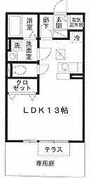 兵庫県姫路市飾磨区恵美酒の賃貸アパートの間取り