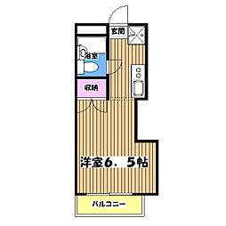 東京都立川市柏町3丁目の賃貸マンションの間取り
