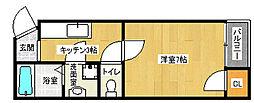 京都府京都市下京区上中之町の賃貸マンションの間取り