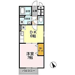 レジデンスTamaya A棟[2階]の間取り