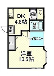 エストブラン[3階]の間取り