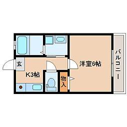 静岡県静岡市駿河区広野の賃貸アパートの間取り