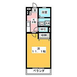 ミュゼ草薙[4階]の間取り