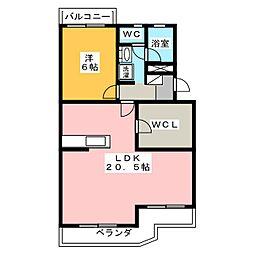 クランツハイム[3階]の間取り