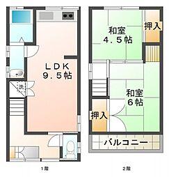 [一戸建] 兵庫県神戸市垂水区五色山2丁目 の賃貸【/】の間取り