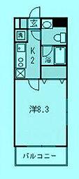 ベイシエ[2階]の間取り
