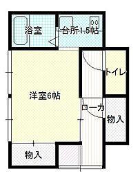 西津田4丁目アパート[1号号室]の間取り