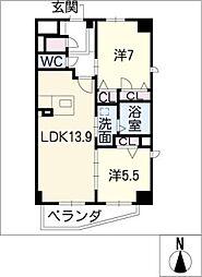 ラマルティーヌ[6階]の間取り