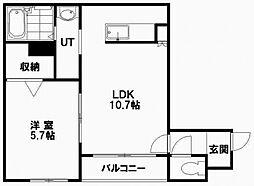 北海道札幌市白石区本郷通6丁目北の賃貸マンションの間取り