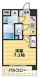 レークス大阪城イースト[2階]の間取り