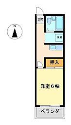 トゥービー(T0−BE)[3階]の間取り