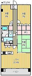 リーデンススクエア津田沼[5階]の間取り