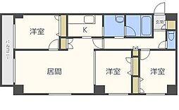 北海道札幌市中央区北三条東2丁目の賃貸マンションの間取り