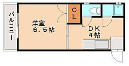 ハッピーエステートモア雑餉隈駅前[2階]の間取り