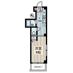 Bouleau Blanc国分寺[5階]の間取り