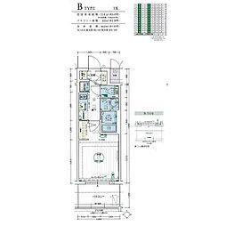 名古屋市営名城線 黒川駅 徒歩3分の賃貸マンション 4階1Kの間取り
