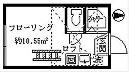 フェリスエポック[203号室]の間取り