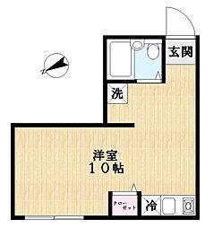 白岩荘[1階]の間取り