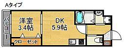 パレスABIKO[2階]の間取り