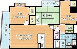 ジャミロ小倉[2階]の間取り